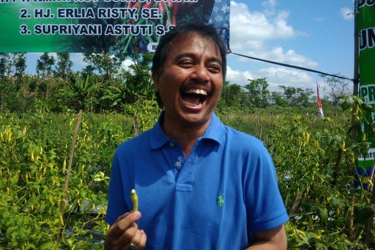Roy Suryo Saat Ditemui di desa Bleberan, Playen, Gunungkidul , Minggu (30/72017)