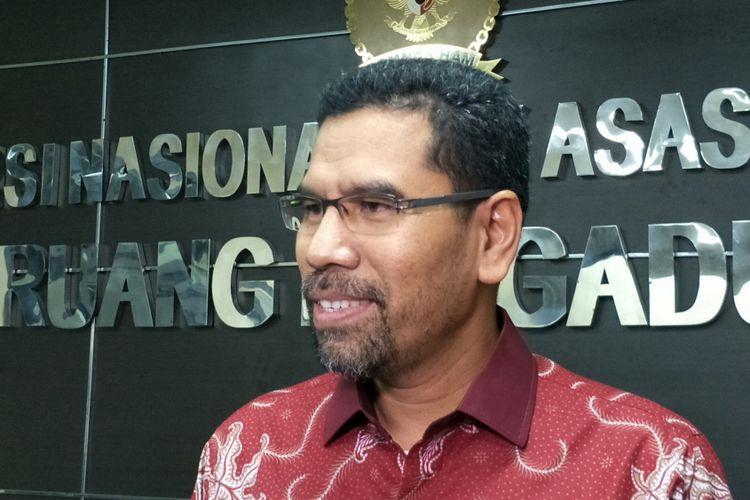 Koordinator Subkomisi Penegakan HAM/ Komisioner Pemantauan & Penyelidikan Komnas HAM, Amiruddin ketika ditemui di kantornya, Jakarta, Kamis (22/2/2018).