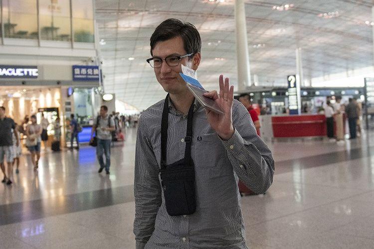 Alek Sigley (29), mahasiswa asal Australia yang sempat ditahan otoritas Korea Selatan.
