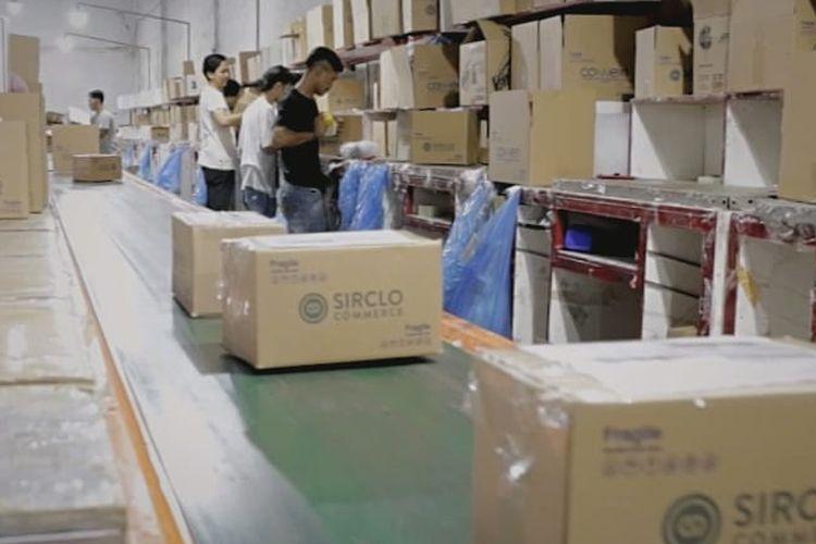 Layanan penjualan online yang dilakukan oleh perusahaan teknologi SIRCLO.