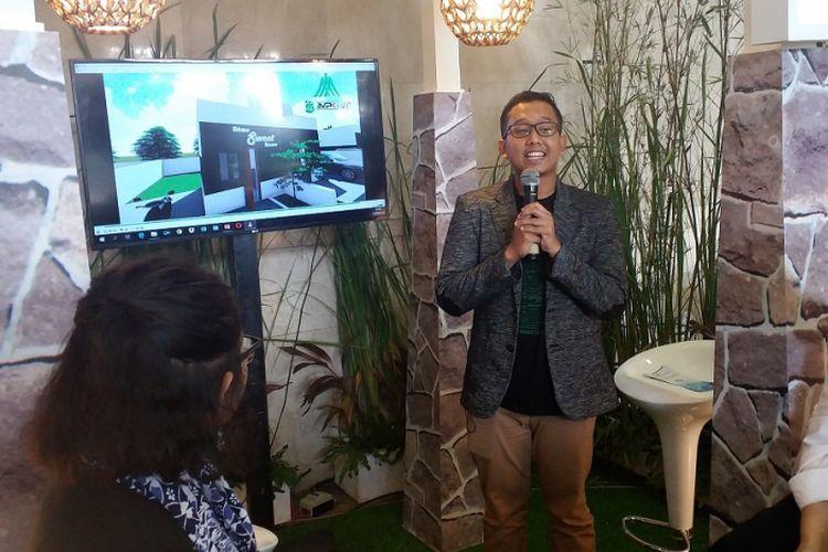 CEO Harmony Land Group Fithor Muhammad dalam acara Housing Talks bertema Hunian Milenial, Selasa (25/9/2018) di Jakarta Convention Center.