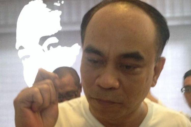 Ketua Koordinator Nasional Pro Jokowi, Budi Arie Setiadi, yang ditemui saat jumpa pers Jangan Curangi Jokowi di sekretariat Projo, Jakarta Selatan, Sabtu (5/4/2014).