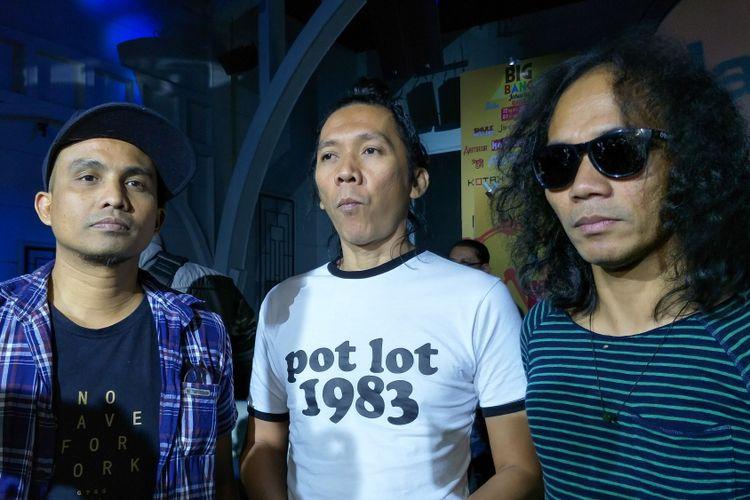 Grup band Slank saat diabadikan di Empirica, SCBD, Jakarta Selatan, Selasa (5/12/2017).