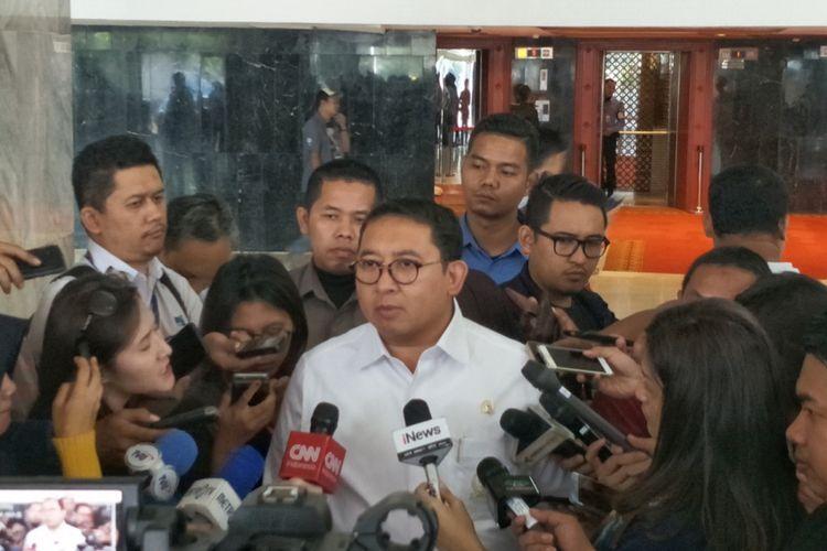 Wakil Ketua Umum Partai Gerindra Fadli Zon saat ditemui di Kompleks Parlemen, Senayan, Jakarta, Senin (2/4/2018).