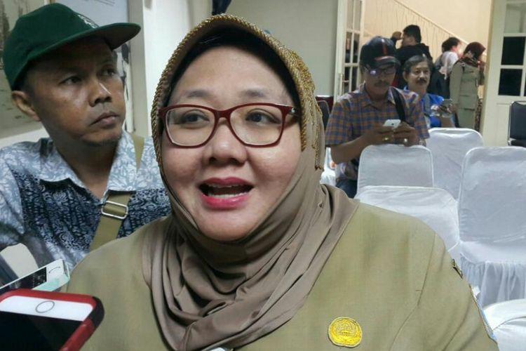 Kepala Unit Pengelola Museum Kesejarahan Jakarta Pemprov DKI, Sri Kusmawati saat menghadiri Jakarta Museum on Social Media Competition.