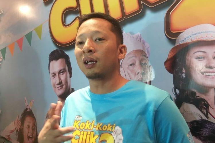 Artis peran Ringgo Agus Rahman saat ditemui di jumpa pers peluncuran poster dan trailer film Koki Koki Cilik 2 di XXI Kota Kasablanka, Menteng Dalam, Jakarta Selatan, Jumat (24/5/2019).