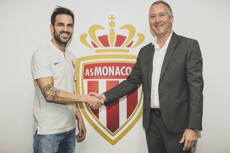 Cesc Fabregas resmi bergabung dengan AS Monaco, 11 Januari 2019.