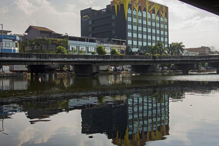Suasana hotel dan griya pijat Alexis di Jakarta, Senin (30/10/2017). Pemprov DKI Jakarta menolak daftar ulang tanda daftar usaha pariwisata (TDUP) yang diajukan Hotel Alexis dan Griya Pijat Alexis.