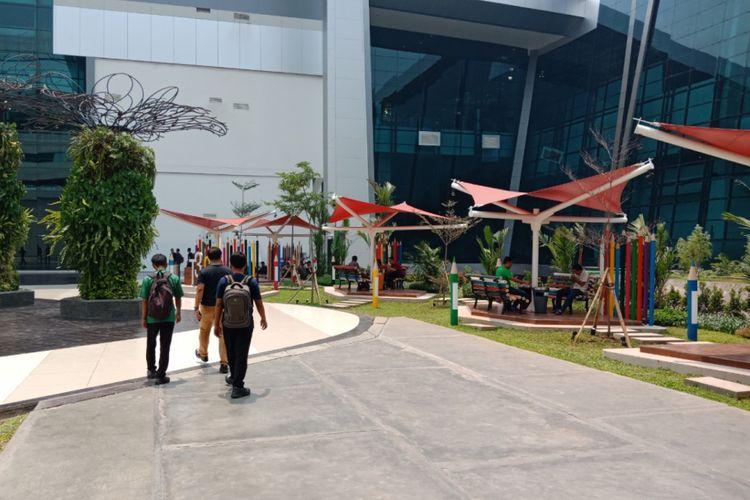 Suasana salah satu sudut Terminal 3, Bandara Soekarno-Hatta, Cengkareng, sebagai destinasi digital airport baru, Jumat (26/10/2018).