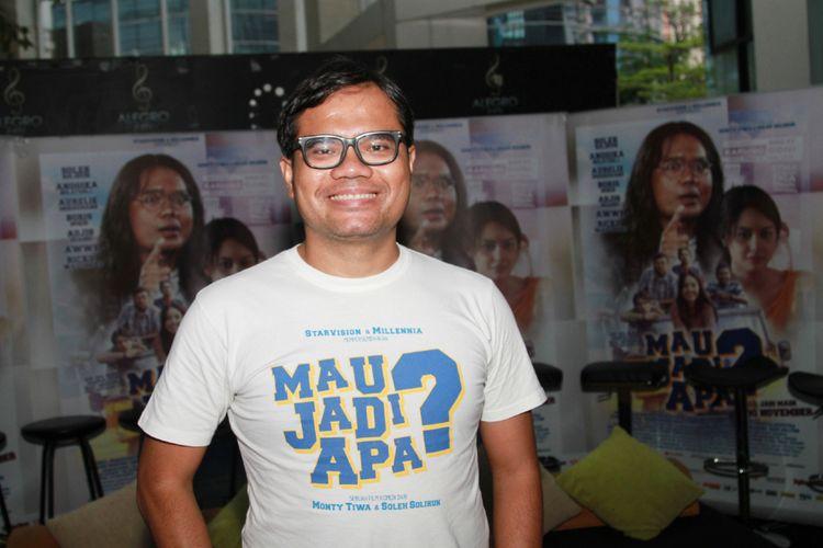 Soleh Solihun saat jumpa pers film Mau Jadi Apa? Di XXI Epicentrum, Kuningan, Jakarta Selatan, Jumat (17/11/2017).