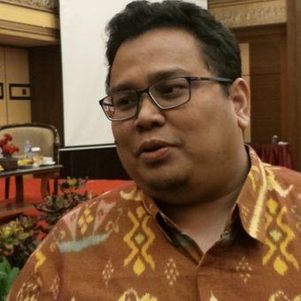 Anggota Badan Pengawas Pemilu (Bawaslu) RI, Rahmat Bagja ketika ditemui di Hotel Golden Boutique, Jakarta, Rabu (2/5/2018).
