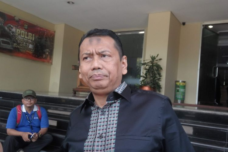Pengacara Rizieq Shihab, Kapitra Ampera saat di Mapolda Metro Jaya, Rabu (2/8/2017).