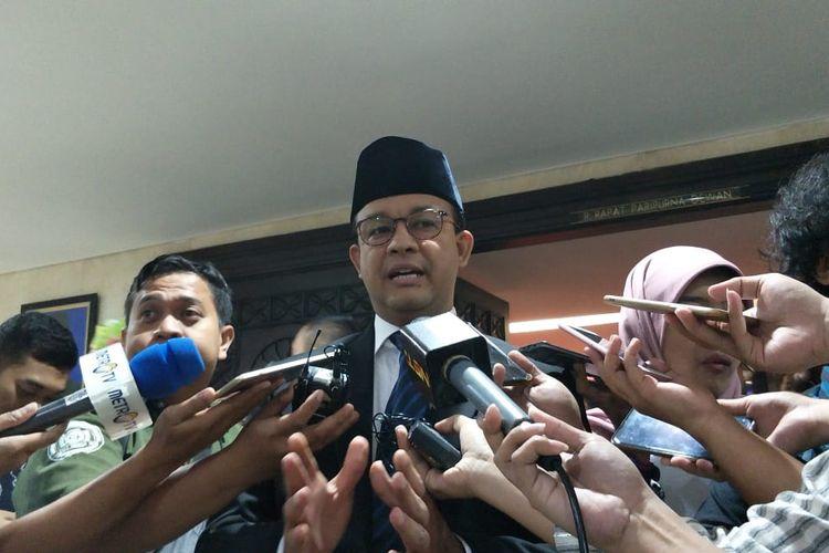 Gubernur DKI Jakarta Anies Baswedan di Gedung DPRD DKI Jakarta, Jalan Kebon Sirih, Jakarta Pusat, Rabu (26/6/2019).