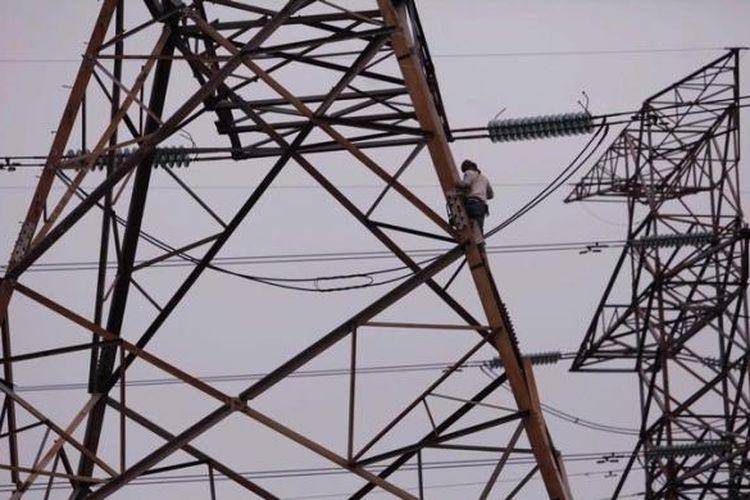 Ilustrasi jaringan listrik di kawasan Rawa Buaya, Jakarta Barat.