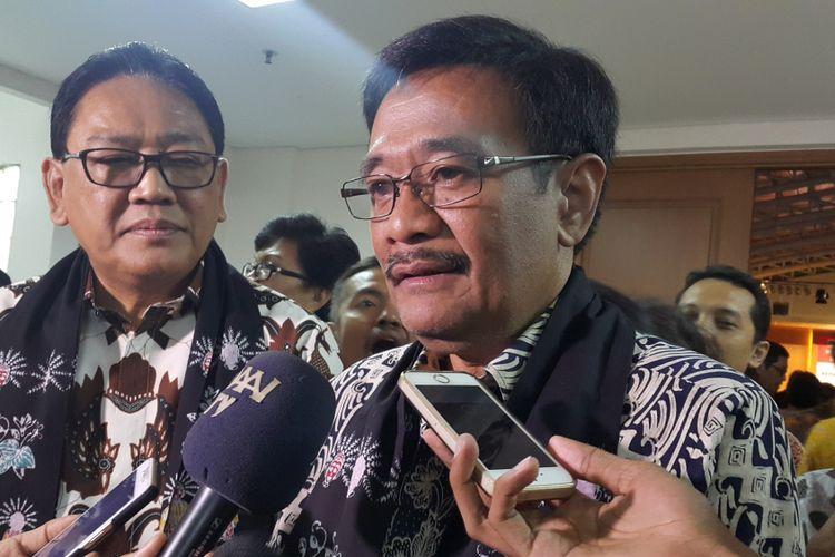 Gubernur DKI Jakarta Djarot Saiful Hidayat saat menghadiri acara silaturahmi kepala SD, SMP, dan SMA se-DKI Jakarta di Gedung Yayasan Budha Tzu Chi, Jakarta Utara, Sabtu (12/8/2017).