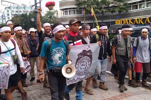Tolak Perubahan Status Cagar Alam Kamojang-Papandayan, Ratusan Pengunjuk Rasa Merapat ke Jakarta