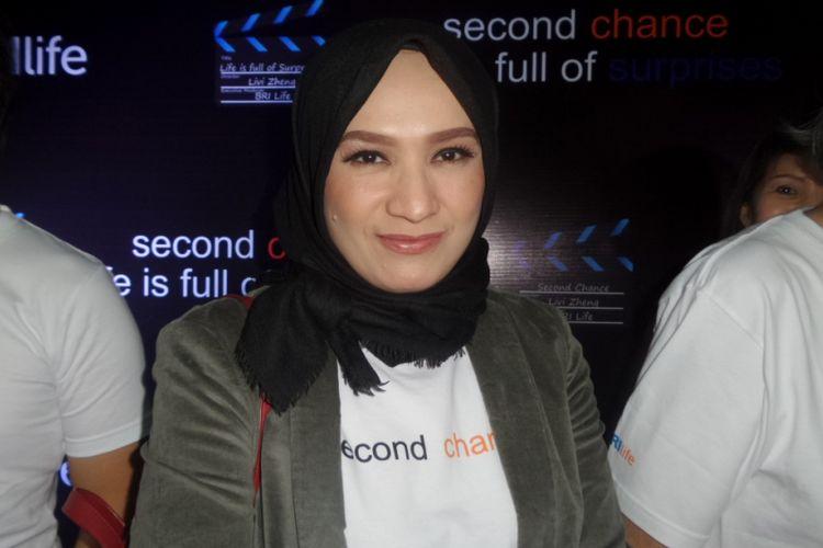 Anna Tarigan dalam konferensi pers dua film pendek arahan sutradara Livi Zheng di Nam Hotel, Kemayoran, Jakarta Pusat, Rabu (13/9/2017).