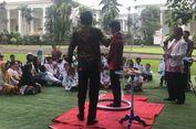 Saat Anak-anak Pengidap Kanker Heboh Lihat Jokowi Main Gelembung Udara