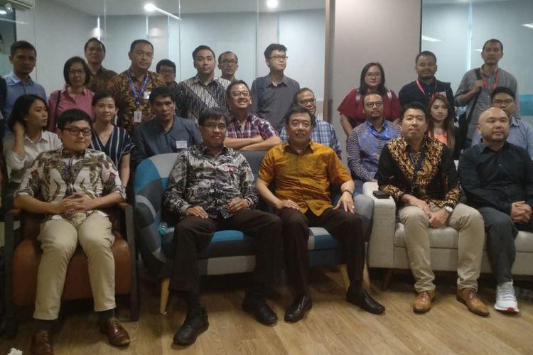 16 perusahaan fintech peer to peer lending melakukan studi banding ke Danamas guna mempelajari proses pengajuan izin ke Otoritas Jasa Keuangan (OJK), Rabu (5/9/2018).