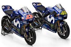 Kelir Baru Motor Yamaha Rossi dan Vinales Musim 2018