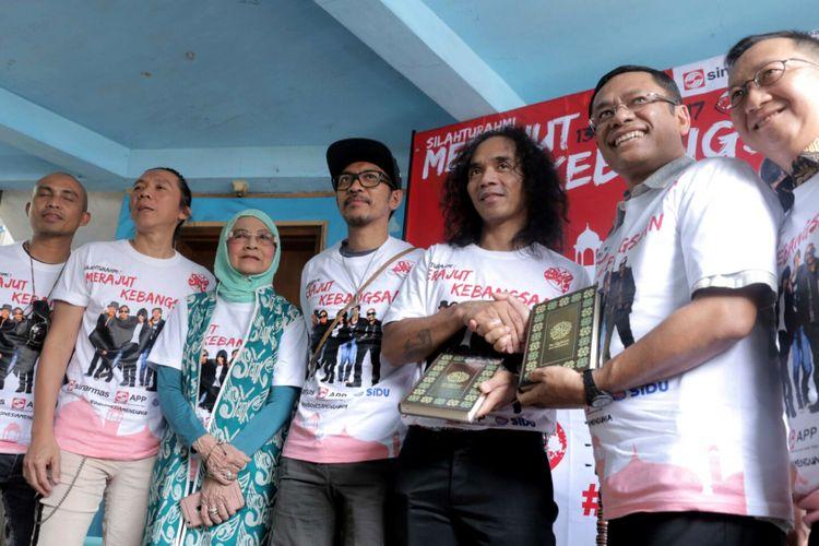 Grup band Slank dalam jumpa pers tur Silahturahmi: Merajut Kebangsaan di Potlot, Pancoran, Jakarta Selatan, Selasa (5/9/2017).