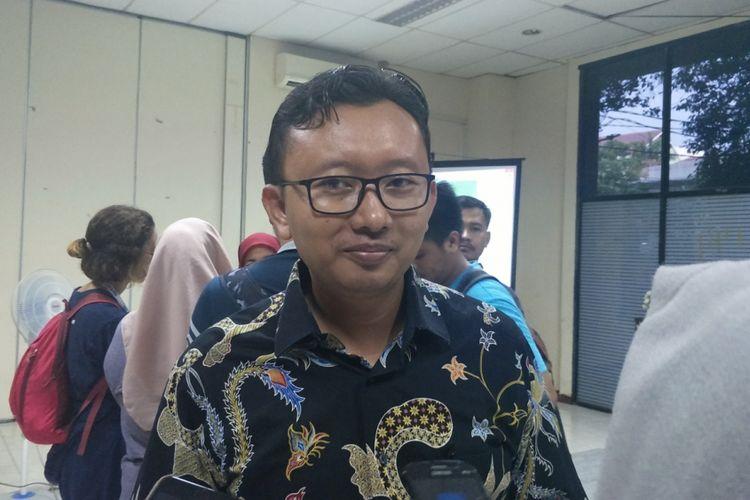 Ketua Bidang Advokasi YLBHI Muhammad Isnur saat ditemui di kantor YLBHI, Menteng, Jakarta Pusat, Selasa (8/1/2019).
