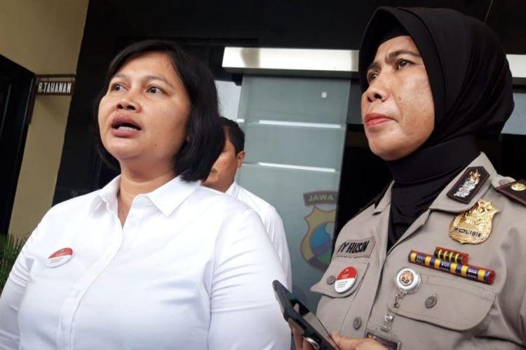 Kanit PPA Polrestabes Surabaya, AKP Ruth Yeni (kiri)