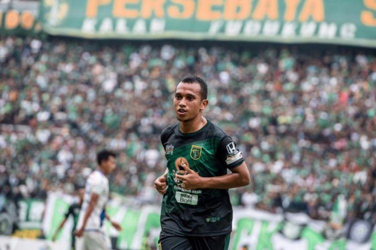 Winger Persebaya Surabaya, Irfan Jaya.