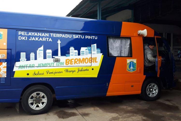 Mobil layanan perizinan keliling atau Mobile Service Unit (MSU) milik UP PTSP Jakarta Utara