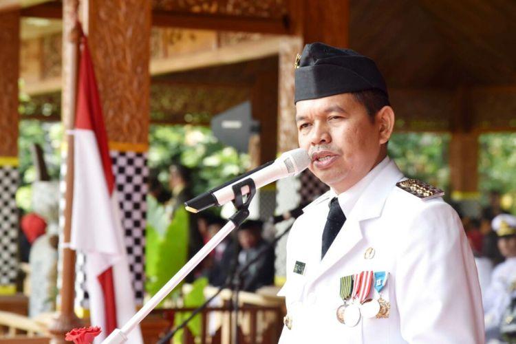 Bupati Purwakarta Dedi Mulyadi menjadi inspektur upacara peringatan Kemerdekaan RI ke-72, Kamis (17/8/2017).