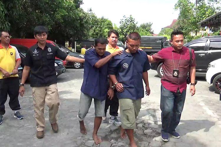 Dua pelaku diamankan di Mapolresta Solo, Jumat (18/8/2017)