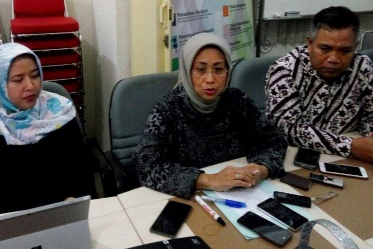 Anggota Ombudsman RI, Ninik Rahayu saat  jumpa pers, Sabtu (10/11/2018)