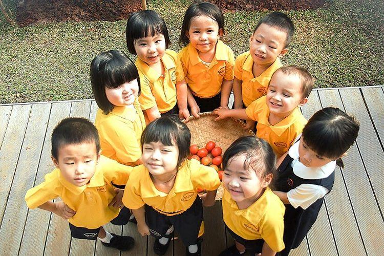 Siswa-siswa preschool Sinarmas World Academy.