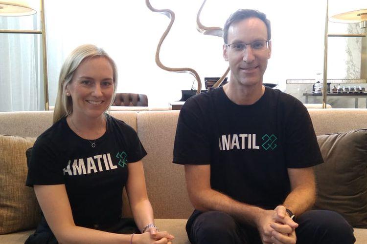 CO-Founder Amatil X Academy, Alix Rimington dan Chris Sullivan, CCA Group Director, Partners & Growth dalam wawancara bersama Kompas.com, Jumat (12/4/2019)