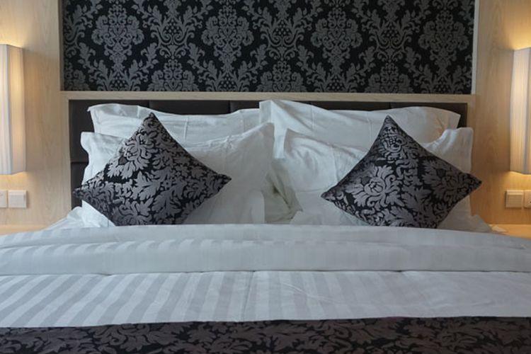 Salah satu kamar di Aston Batam Hotel & Residence, Selasa (12/9/2017). Hotel baru di Batam, Kepri yang dikelola Archipelago International ini menggabungkan kemewahan dengan suasana bersahaja, lokasi strategis di dekat pusat bisnis maupun hiburan. Aston Batam Hotel & Residence manawarkan 232 kamar yang nyaman mulai dari tipe superior dan deluxe hingga family dan suite.
