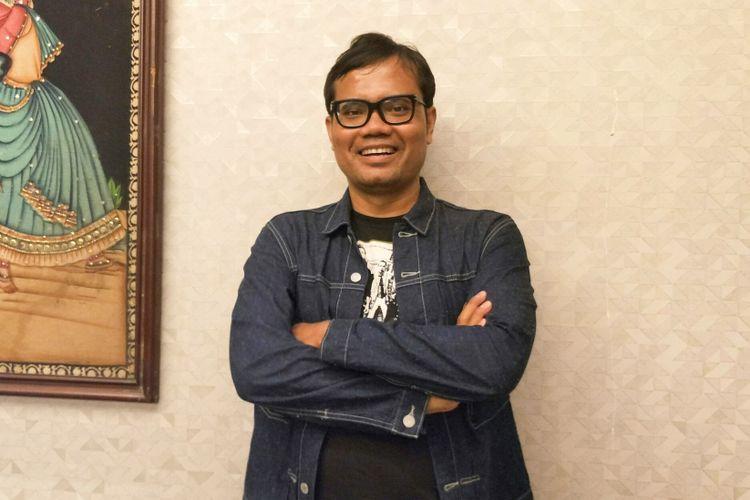Komika Soleh Solihun dalam acara syukuran film Generasi Z di kawasan Cikini, Jakarta Pusat, Jumat (8/12/2017).