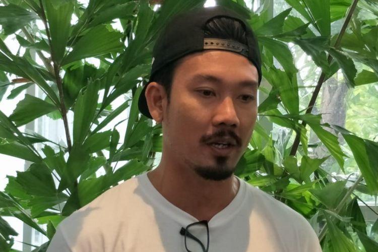 Denny Sumargo ditemui usai jumpa pers peluncuran teaser Film A Man Called Ahok di Metropole XXI, Jakarta Pusat, Rabu (6/9/2018).