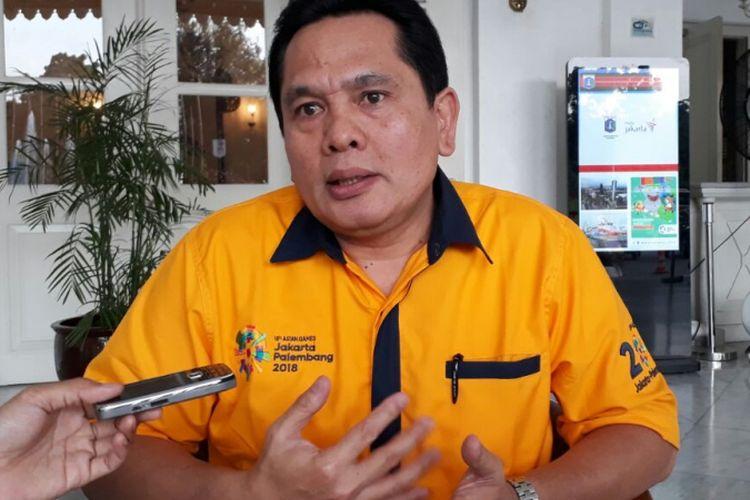 Anggota Dewan Pengupahan DKI Jakarta dari unsur pengusaha, Sarman Simanjorang, di Balai Kota DKI Jakarta, Jalan Medan Merdeka Selatan, Senin (30/10/2017).