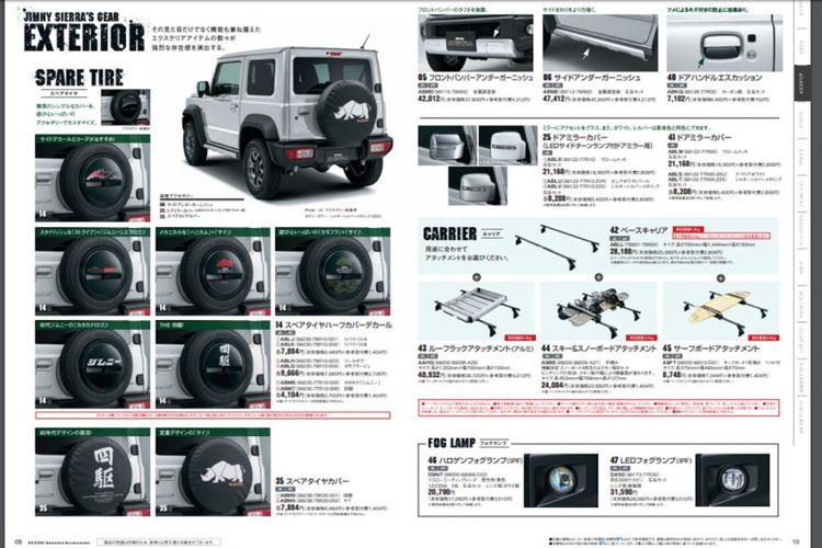 Ragam aksesori untuk All New Jimny Sierra terbaru sudah disiapkan Suzuki bagi penggemar SUV tersebut