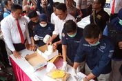Polda Sulsel Musnahkan 11 Kg Narkoba dari Filipina
