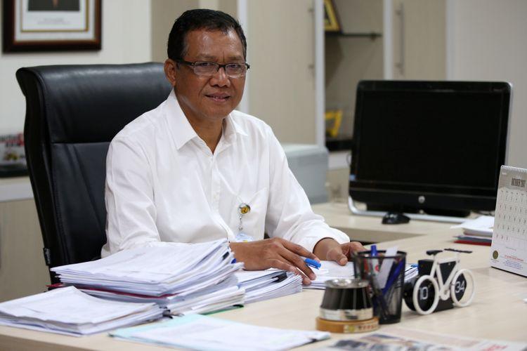 Direktur Jenderal Sumber Daya Air Kementerian Pekerjaan Umum dan Perumahan Rakyat (PUPR) Imam Santoso saat wawancara dengan KOMPAS.com di Kementerian Pekerjaan Umum dan Perumahan Rakyat, Jakarta, 18/10/2017).