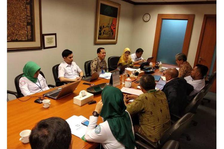 Pertemuan kuasa hukum pasien kanker dengan pihak BPJS, Senin (23/7/2018) di Jakarta Pusat.