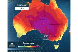 Cuaca Panas Ekstrem di Seluruh Australia Capai 45 Derajat Celsius