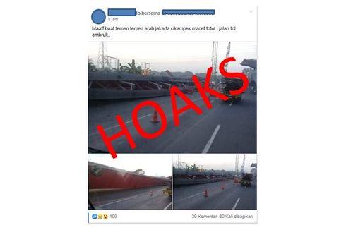 [HOAKS] Tol Jakarta-Cikampek Dikabarkan Ambruk
