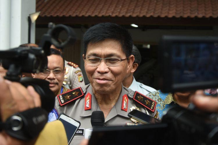 Kepala Korps Lalu Lintas Polri Inspektur Jenderal Royke Lumowa  usai menghadiri sebuah acara di Kampus Universitas Indonesia, Depok, Selasa (26/9/2017).