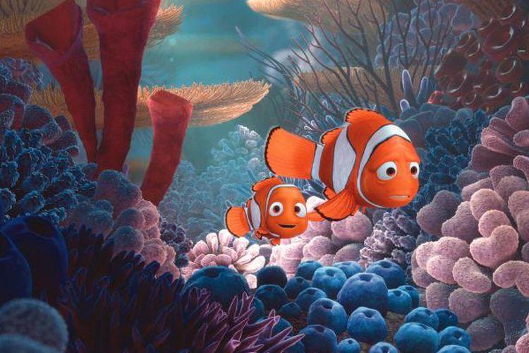 Salah satu adegan dalam film Finding Nemo