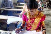 Sebelum Menikah, Wanita Ini Ikut Ujian Dulu di Kampusnya