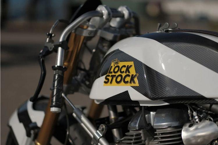 Lock Stock, motor modifikasi Royal Enfield bergaya dragrace berbasis Continental GT 650 Twin