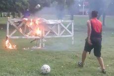 Latihan Ekstrem Kiper Klub Argentina, dari Api hingga Kereta Api