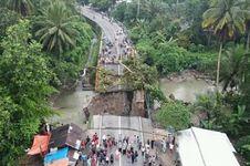 Sabtu, Jembatan Pengganti Sementara Batang Kalu Dibuka Fungsional